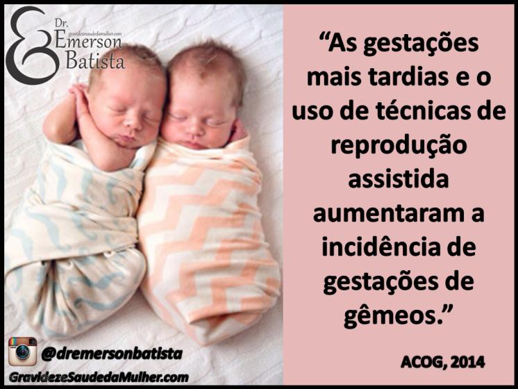 Gravidez de gêmeos reprodução assistida pré-natal de alto risco