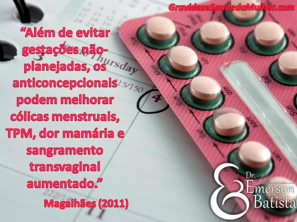 efeitos benéficos dos anticoncepcionais