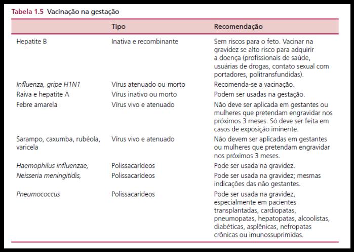 vacinas na gestação gravidez vacinação